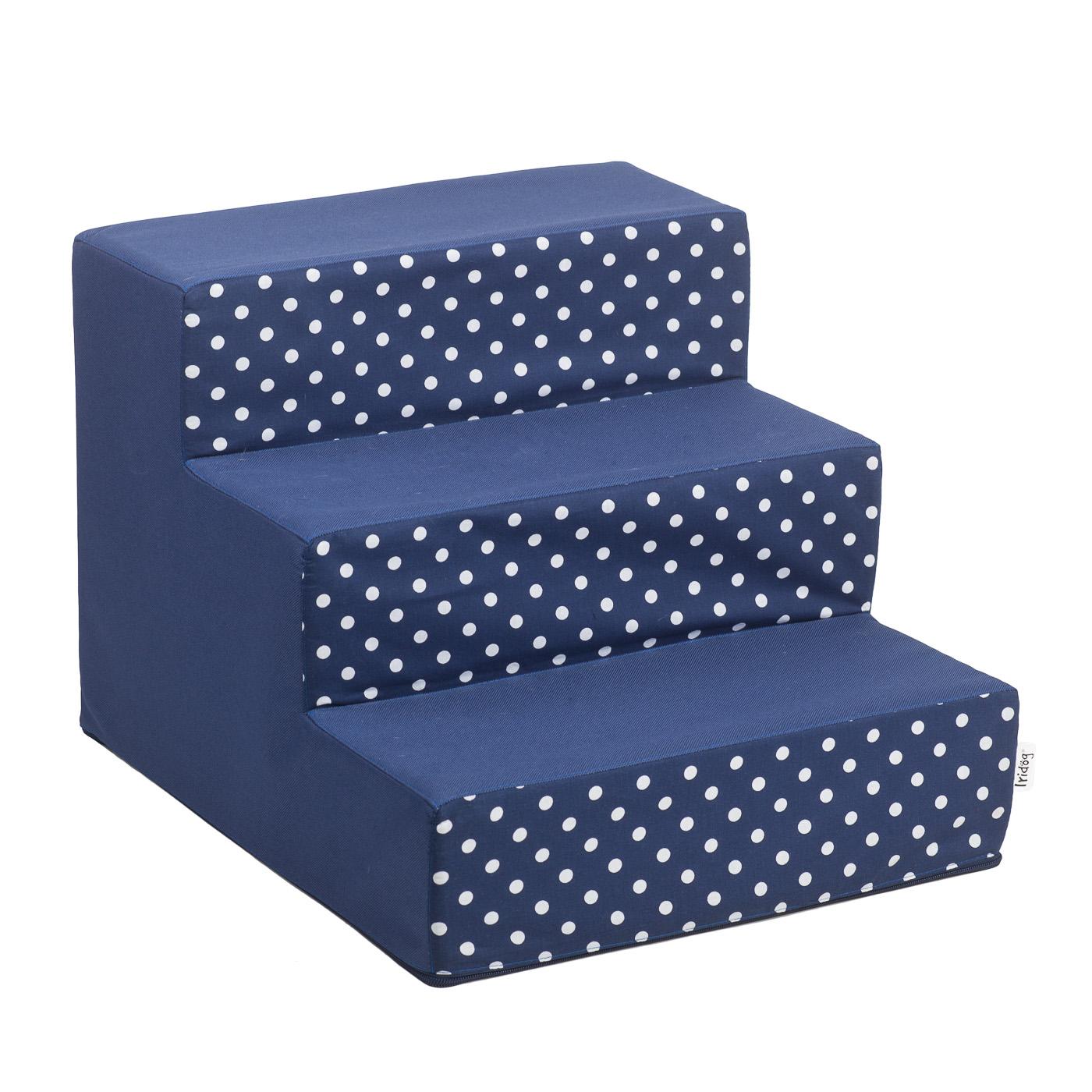Schody pro psy, no. 30, modrá s puntíky, 2 velké