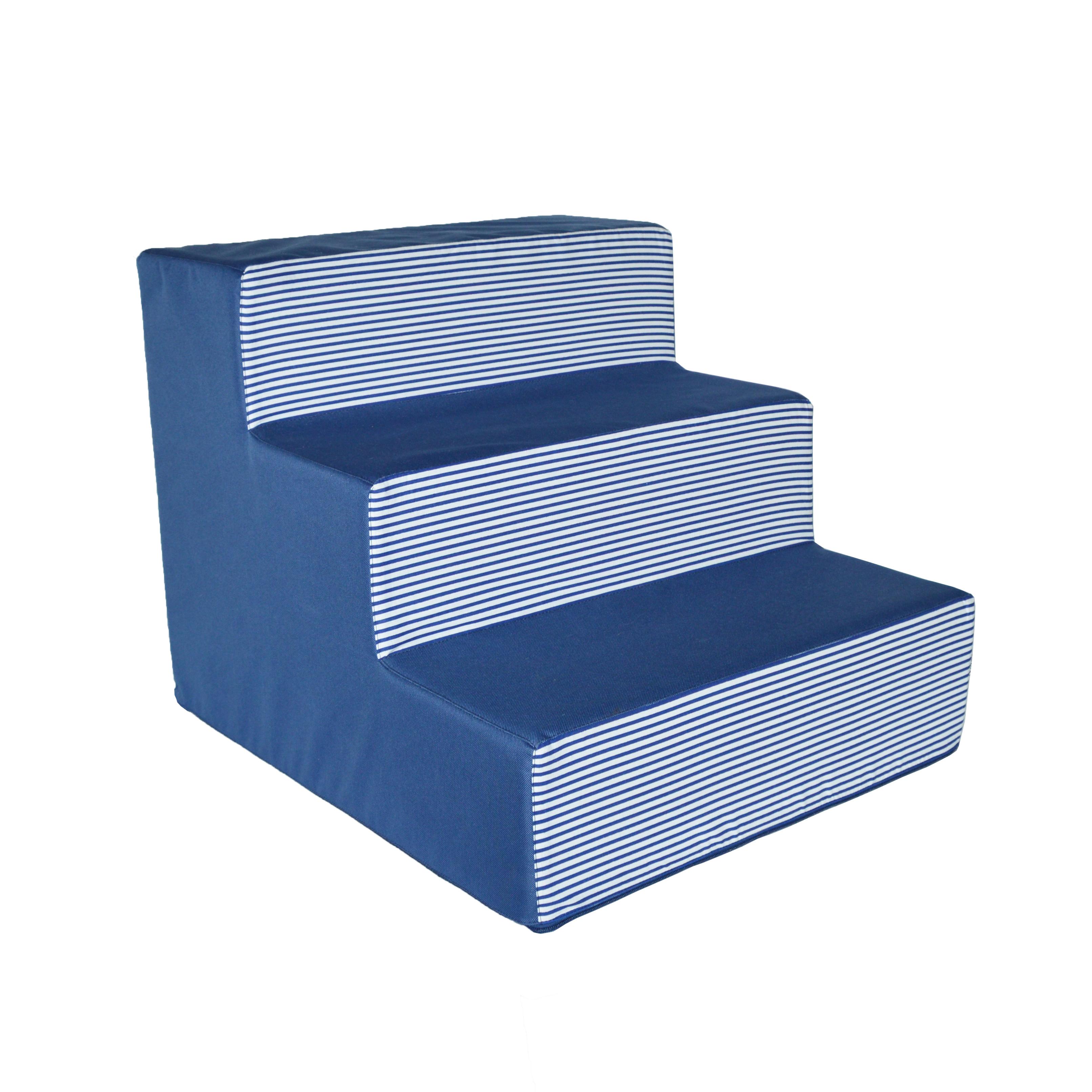 Schody pro psy no. 24, modré proužky, 1 malé