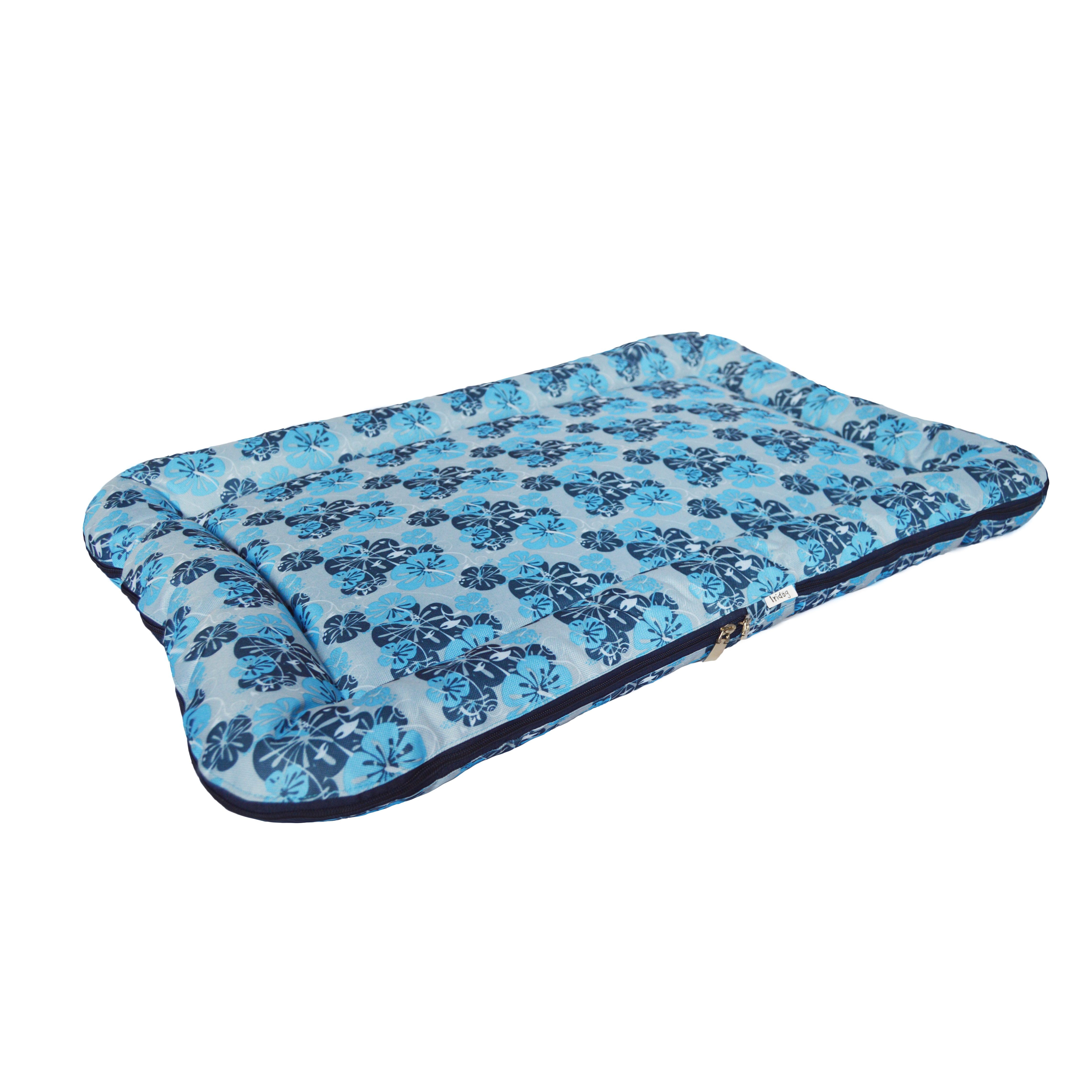 Matrace pro psy no. 45, modrá květinová, vel. 1