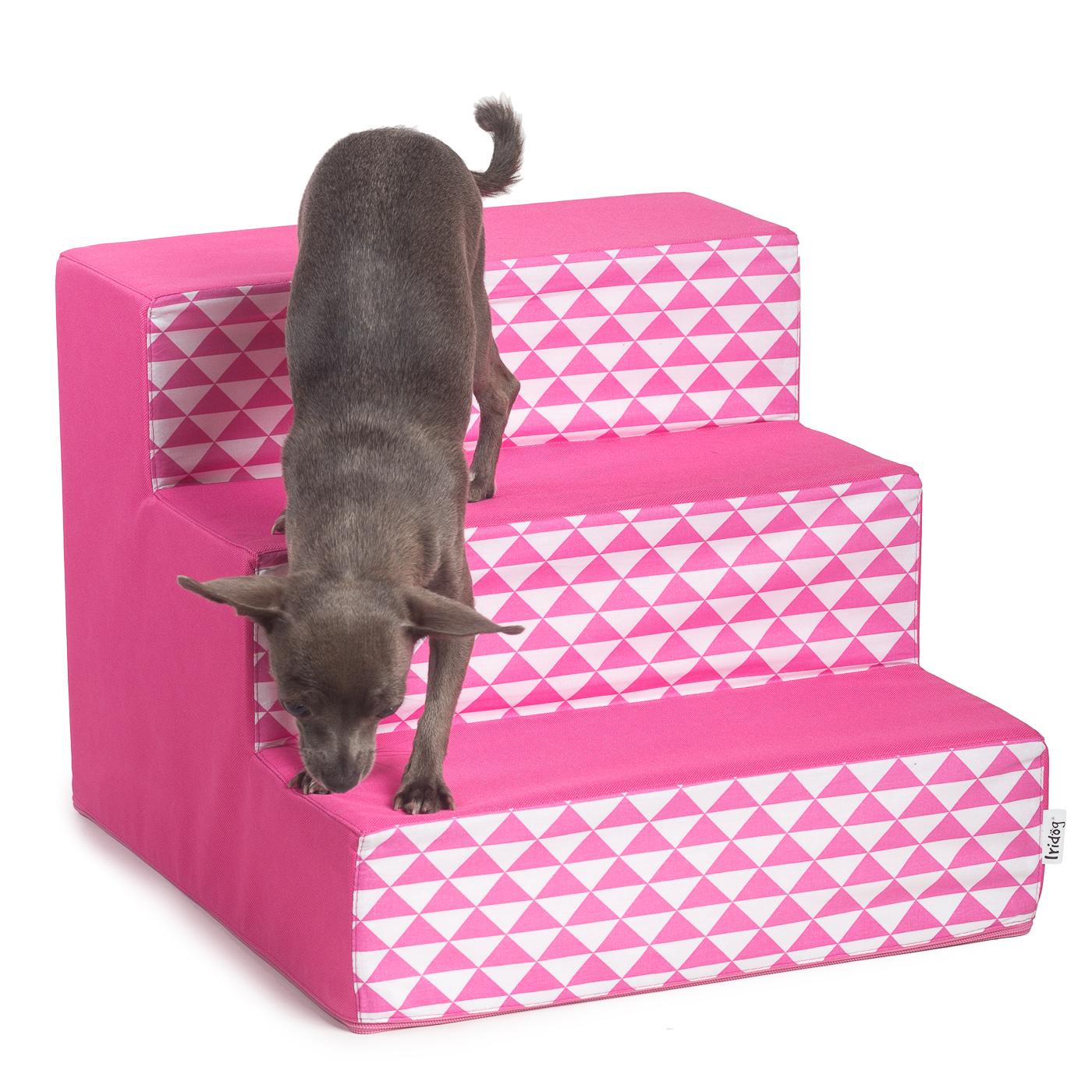 Schody pro psy no. 40, růžový triangl, 1 malé