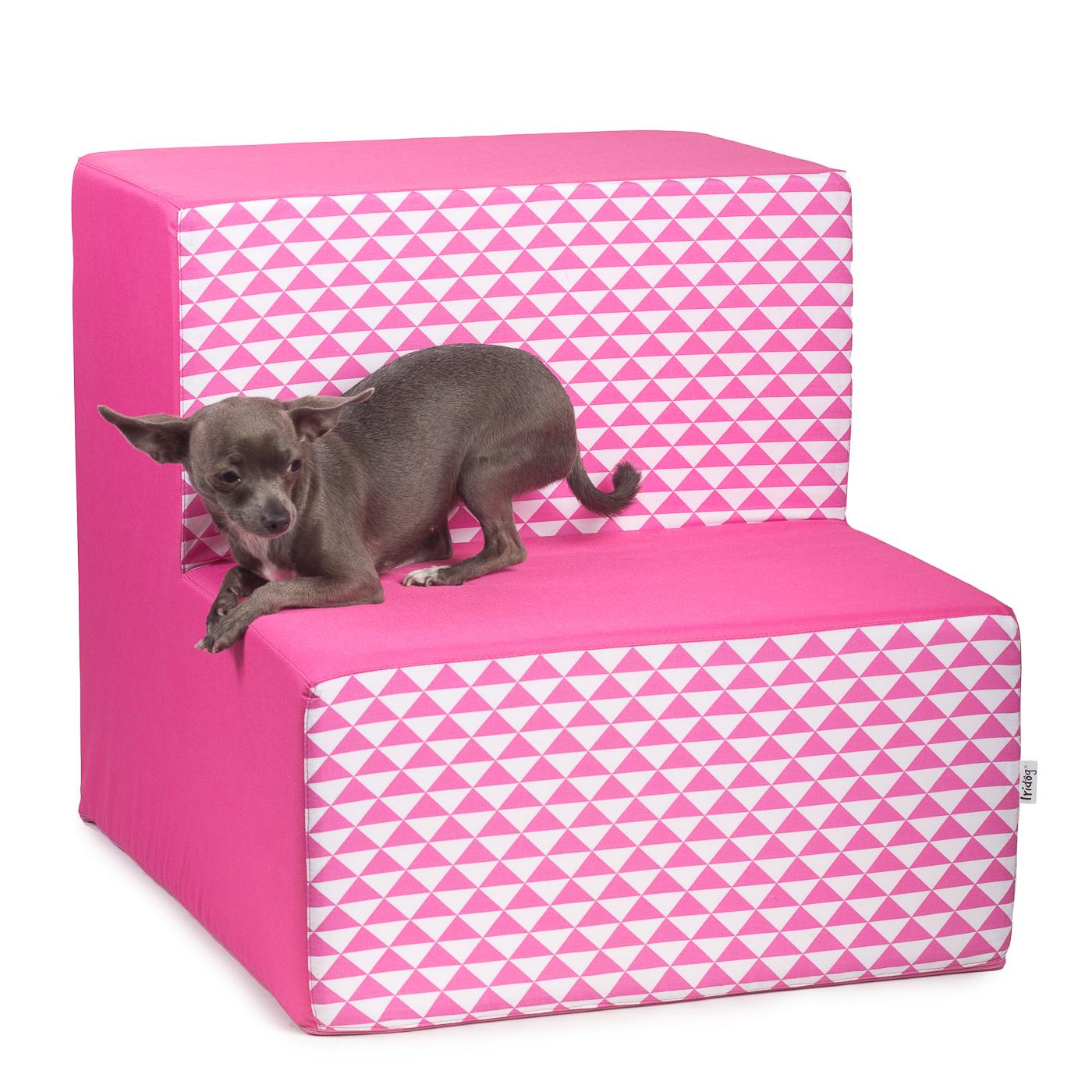 Schody pro psy , no. 40, růžový triangl, 3 malé