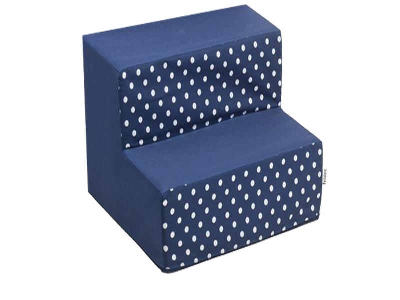 Schody pro psy, no. 30, modré s puntíky , 4 velké