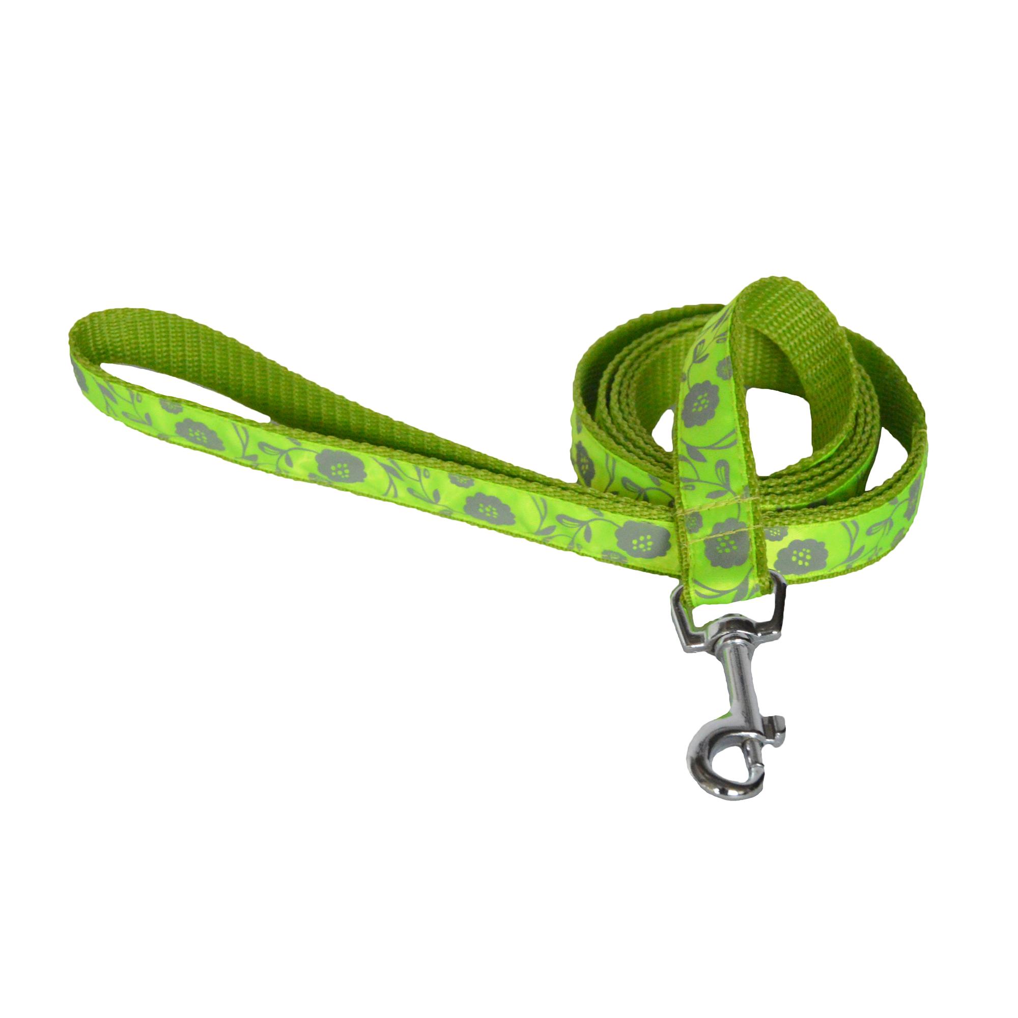 Vodítko pro psy no. 56, zelené květinové