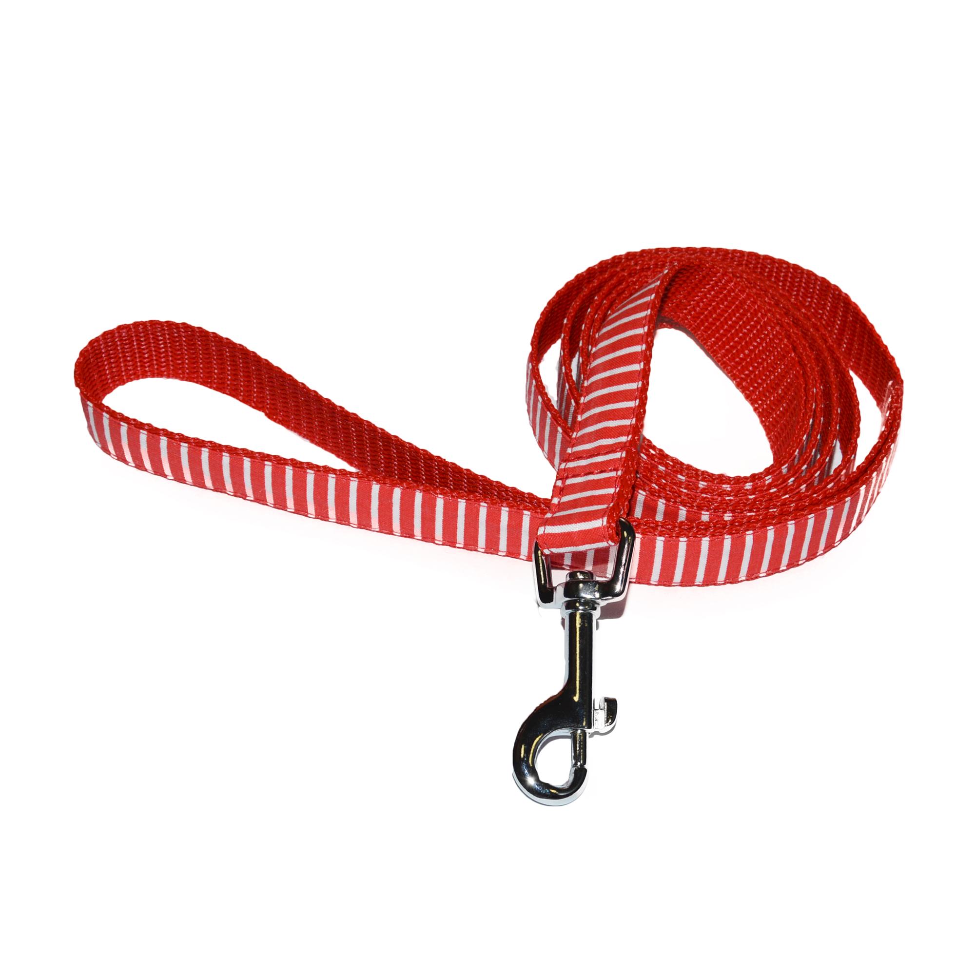 Vodítko pro psy no. 42, červené proužky