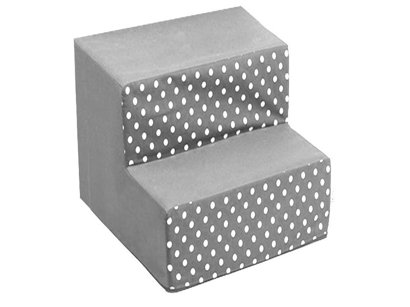 Schody pro psy, no. 34, šedé s puntíky, 4 velké