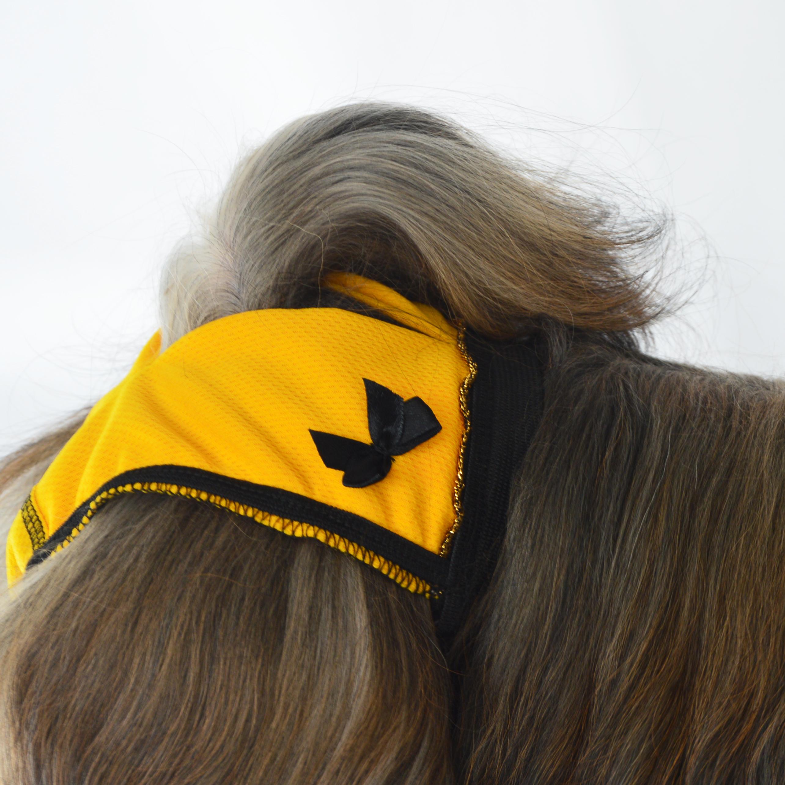 Hárací kalhotky MEGGIE no. 7, žluté s černou mašlí, vel. 2