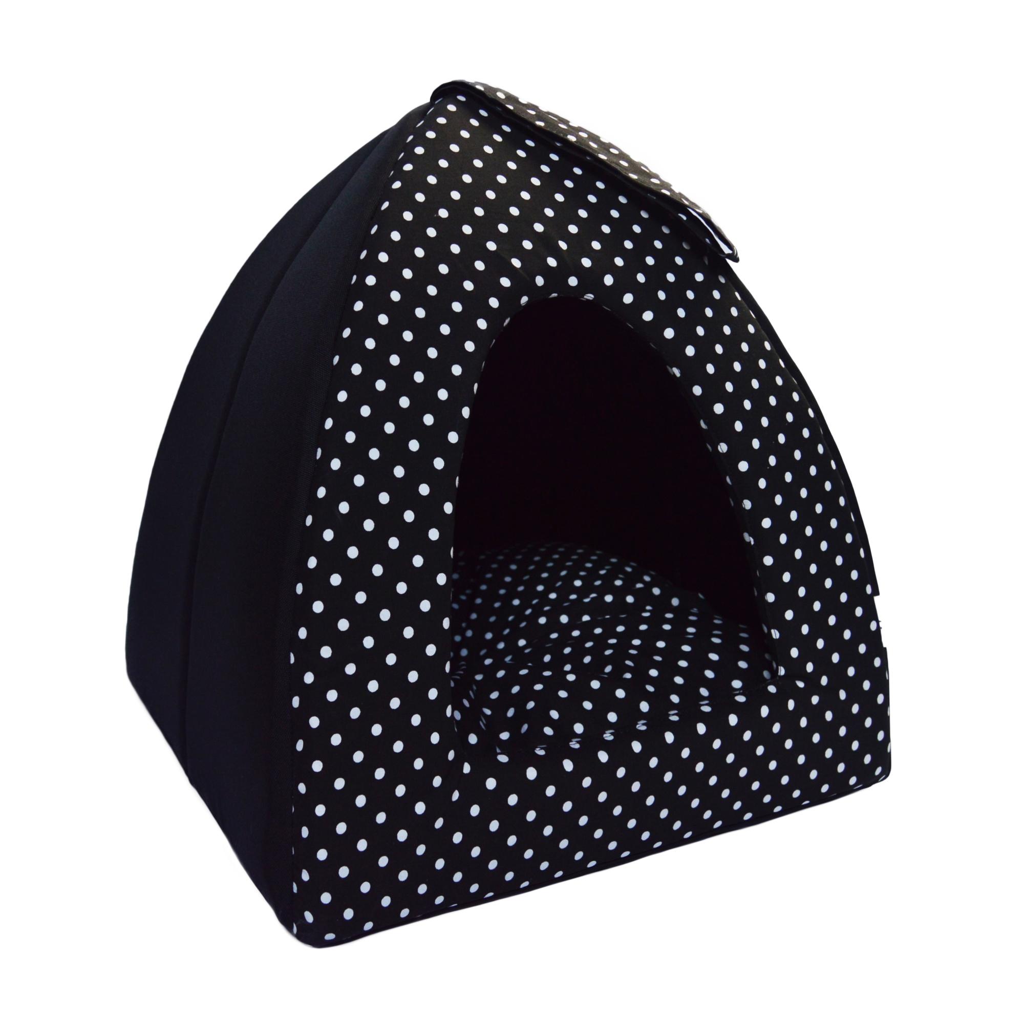 Kukaň iglů no. 8, černá s puntíky, vel.1