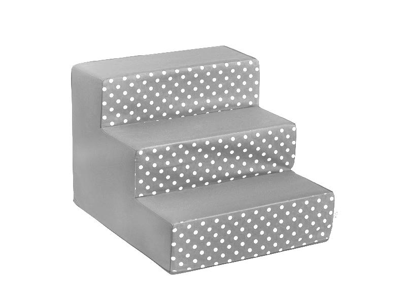Schody pro psy, no. 34, šedé s puntíky, 2 velké
