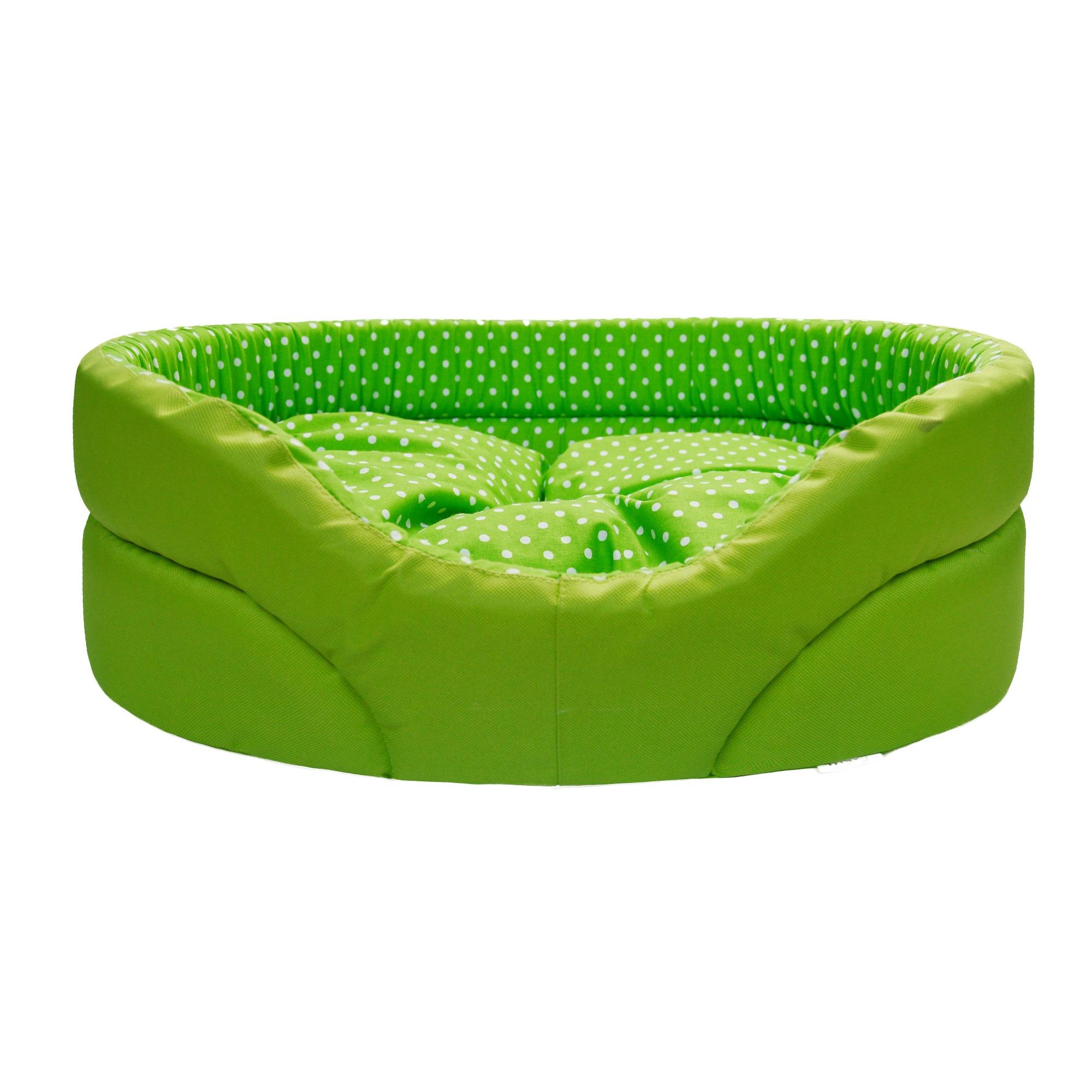 Pelech pro psy no. 13, zelený s puntíky, vel. 1